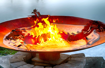 Natures Design  Fire Pit Gallery  Emergence Dragon Fire Pit