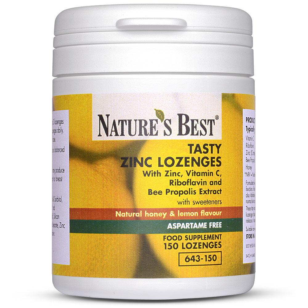 Zinc Lozenges | Honey & Lemon Flavour| Nature's Best