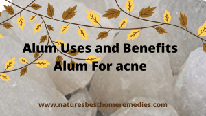 benefits and uses of alum powder