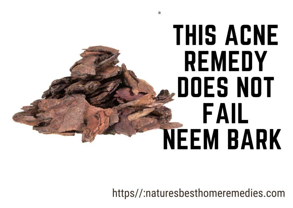 neem bark acne home remedy