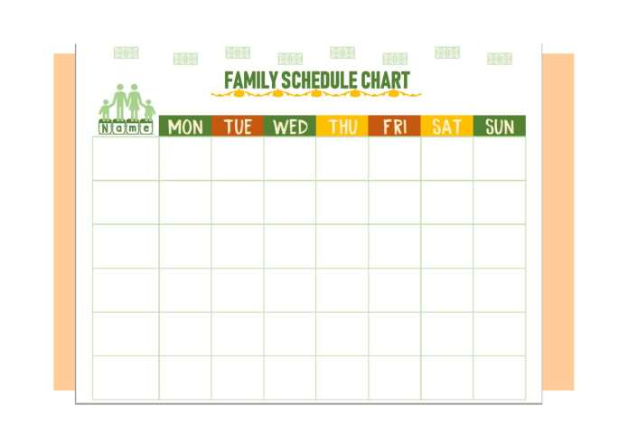 family schedule chart printable download