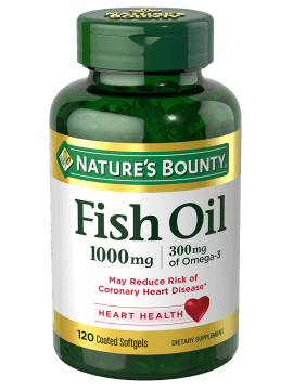 Fish Oil 1000 Mg 120 Coated Softgels Natures