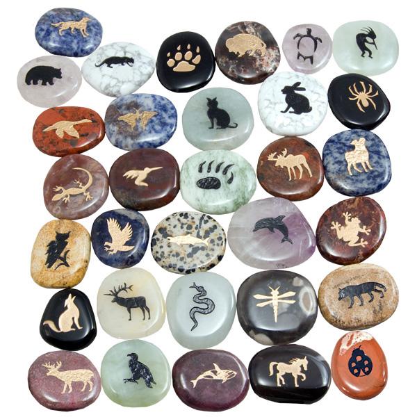 24 animal totem stones