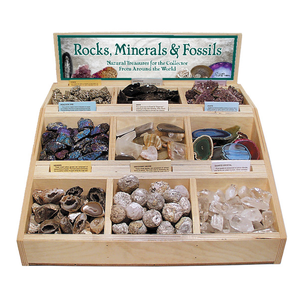 Rock Mineral And Fossil Bin Display Pre Pack