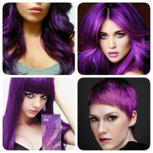 Berina Professional Permanent Hair Dye - Purple Violet