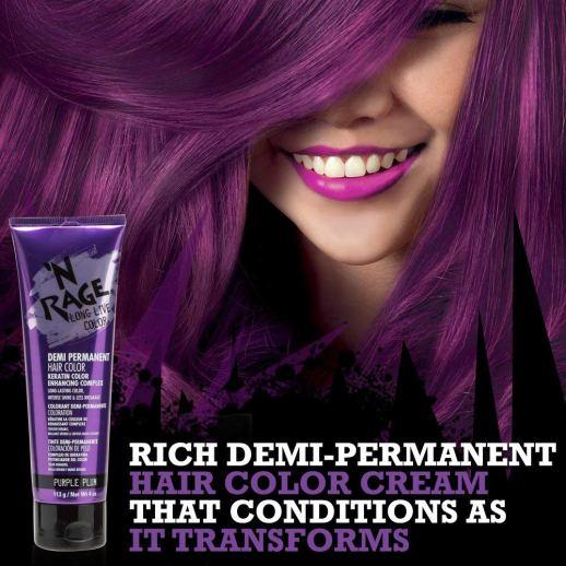 N Rage Demi Permanente Hair Color - Purple Plum