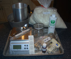 supplies for making a soy candle