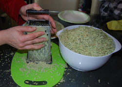 grating soap for rebatch