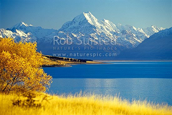 Fall Textures Wallpaper Mount Cook Aoraki 3754m Above Lake Pukaki And Tasman
