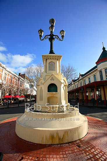 Historic 1881 William Hogg Watt water fountain on Victoria