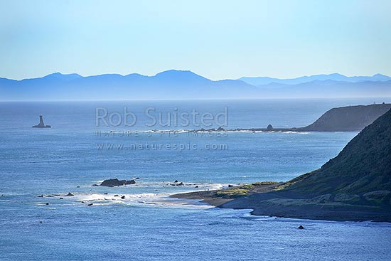 View over Wellington South Coast Karori Lighthouse Cook