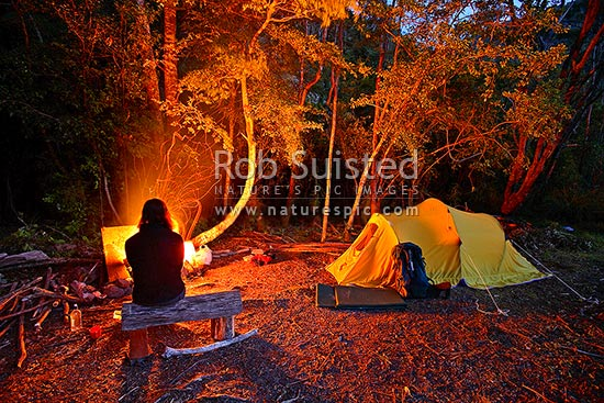 Men Quote Wallpaper Night Time Tent Campsite In Forest With Roaring Open