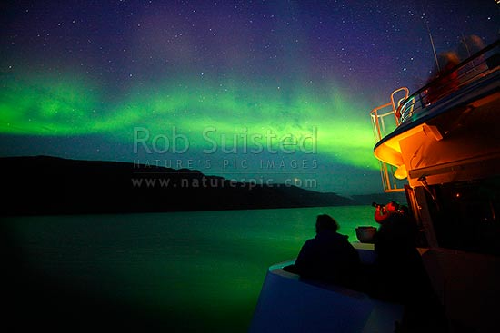 The Northern Lights Aurora borealis playing above the