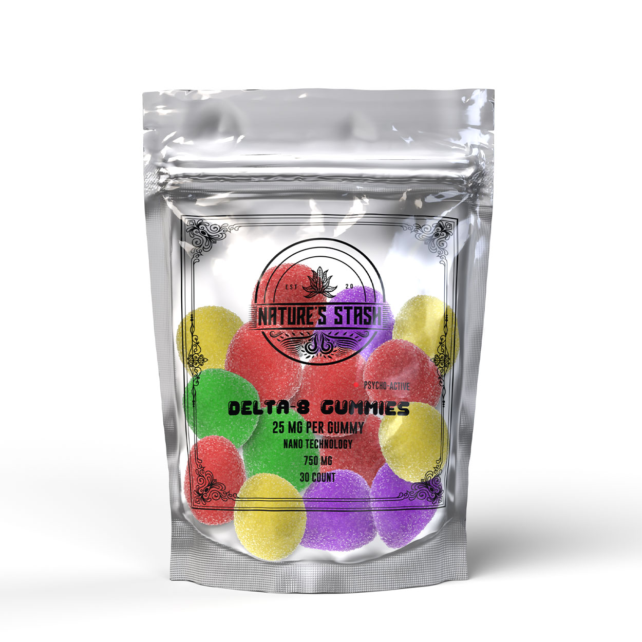Nature's Stash Delta-8 CBD Gummies for Stress and Anxiety Relief