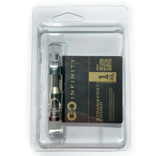 Strawberry Cough Flavored THC-O Vape Refill Cartridge by Nature's Stash CBD
