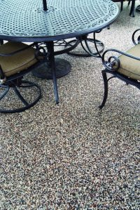 Outdoor Custom Stone and Epoxy Patios