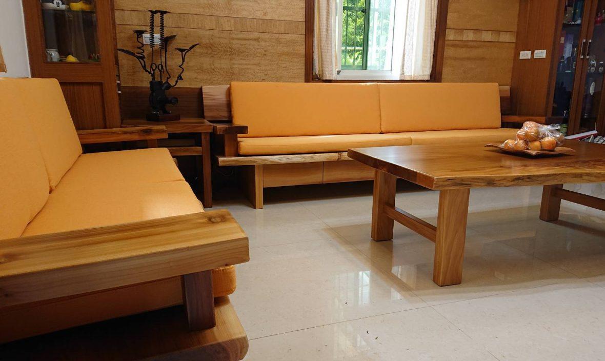 原木客廳組-新竹美國檜木客廳組 | 巨木大師 創藝傢俱