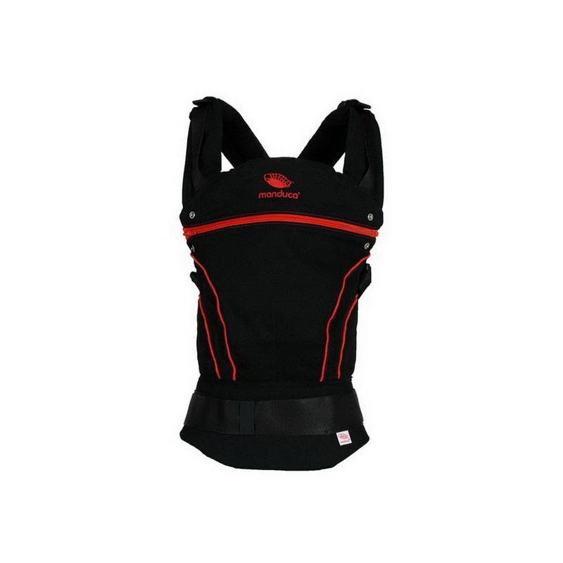 porte bebe physiologique manduca blackline rouge