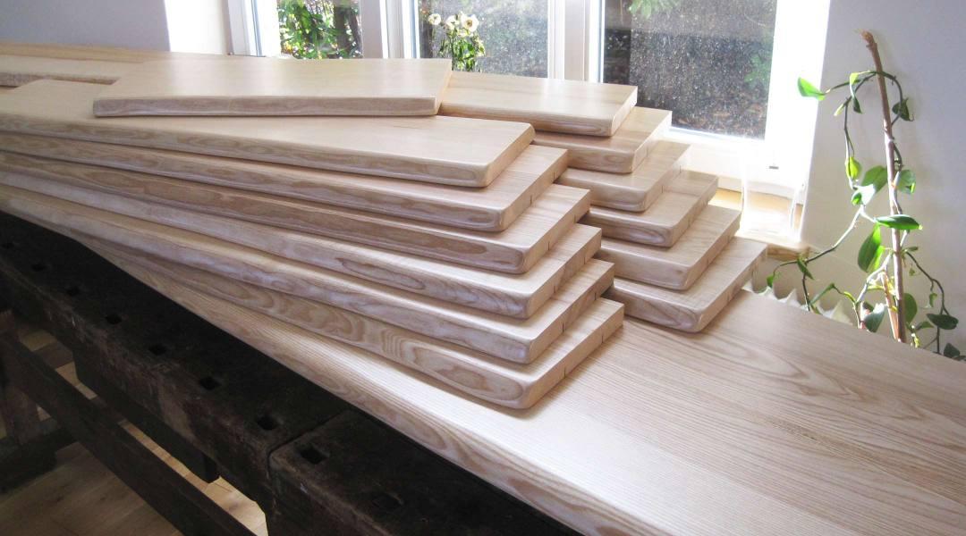 Esche-Holzfensterbänke mit natürlicher Baumkante, Live-Edge