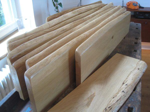 Eiche Holzfensterbänke mit Naturkante resp. Baumkante oder Live-Edge