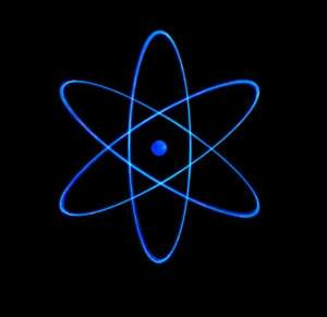 A classic representation of the Bohr atom.