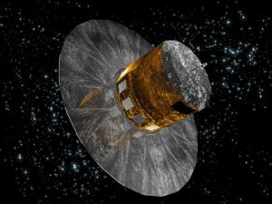 An artist's impression showing the Gaia mission satellite. Image: ESA.