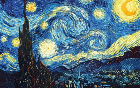 """An image showing Van Gogh's painting """"The Starry Night"""" (1889)."""