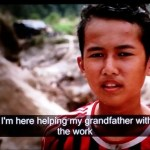 A still image from BBC Panorama documentary on child tin mining labour in Bangka, Indonesia.