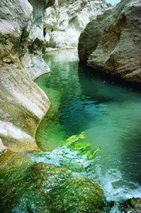 A photograph of the Rio De Aguas Sorbas in Spain.