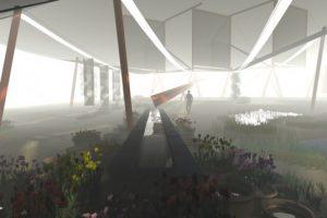 A photograph showing a fog garden in the Atacama desert in Chile. Source: Inhabitat