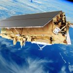 An artist conception of the future Sentinel-6 observation satellite.