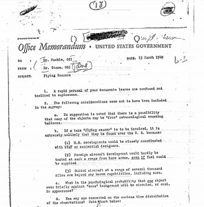 A picture of the Office Memorandum from the United States Government.