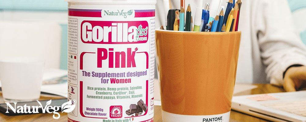 Gorilla Pink - Proteine vegetali naturveg