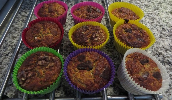 Kokos havermout muffins