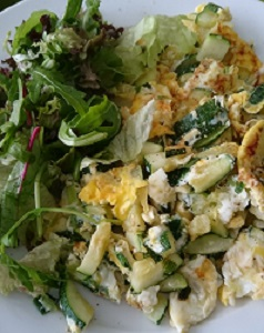 omelet courgette