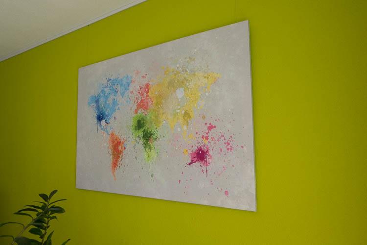 wereldkaart canvas
