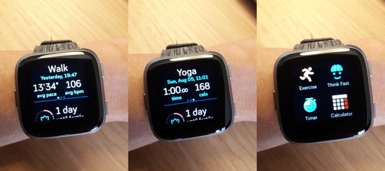 Fitbit Versa activity
