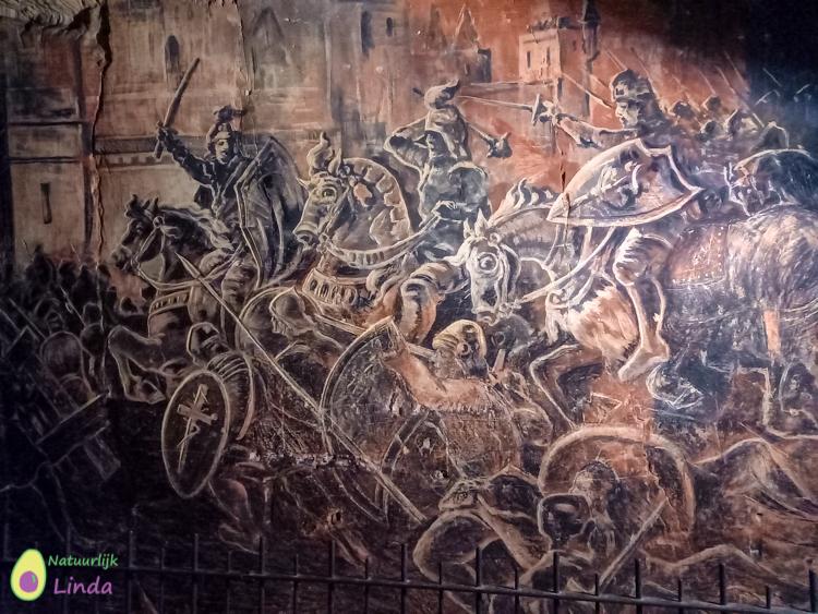 Fluweelengrot muurschildering
