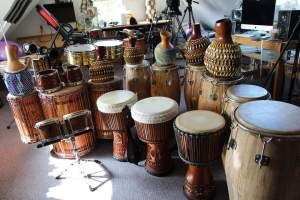 a lot of drums
