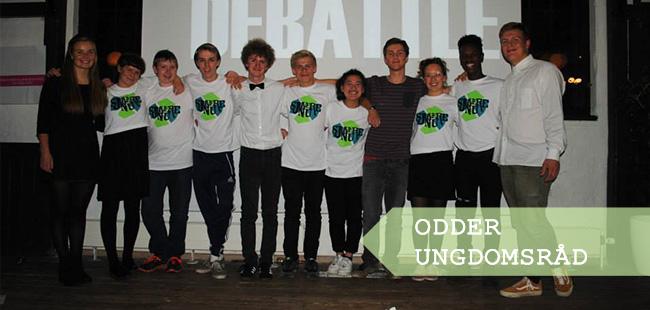 Odder Ungdomsråd til deres valgdebat i efteråret 2013. Foto: Odder Ungdomsråd