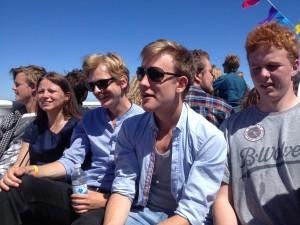 NAU-deltagere på sejlturen mod Ungdomsmødet på Christiansø