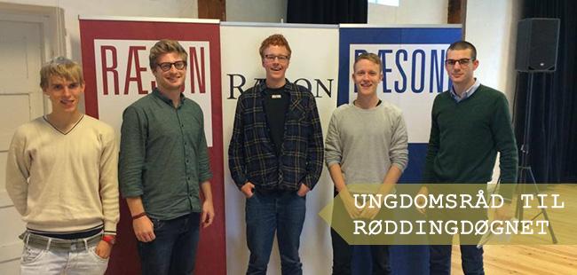 TKU-medlemmerne Jacob Lundbye og Peter Magnus Brøndum Rønn (tredje og fjerde fra venstre)  til Røddingdøgnet
