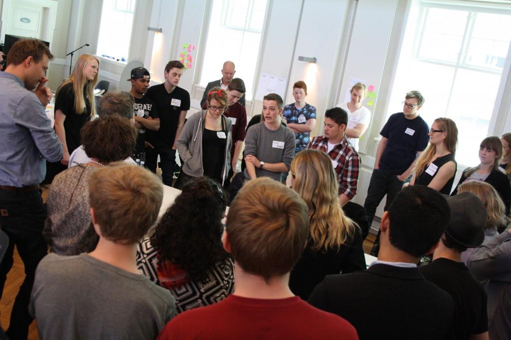 Kommunerne præsenterede deres ideer for hinanden efter at have talt om formål og visioner for deres ungdomsråd.