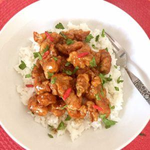 Hot & Spicy Glazed Chicken Plate