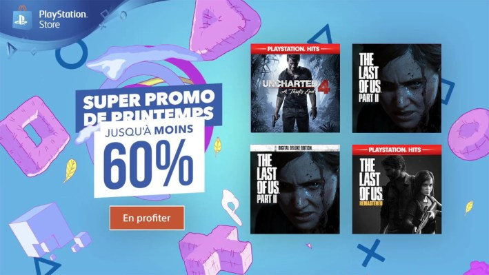 Promotions Uncharted 4, The Last of Us 1 et 2