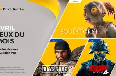 jeux PS Plus Avril 2021