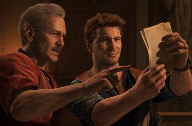Nathan Drake et Sully regardant des photo (Uncharted 4)
