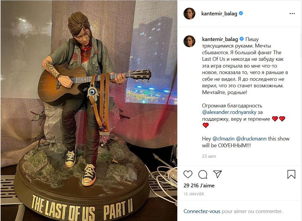Annonce réalisateur Kantemir Balagov Instagram série The Last of Us