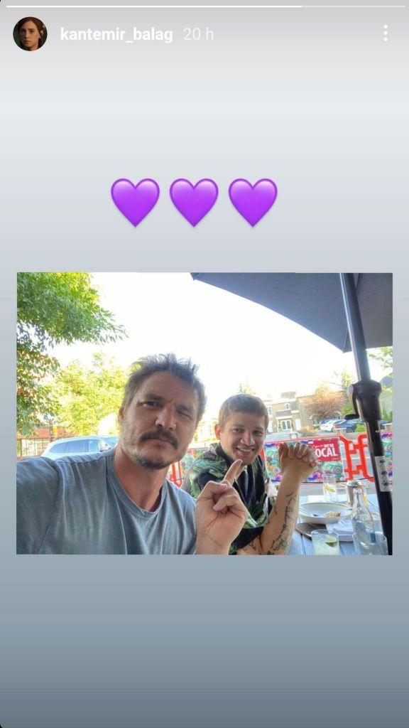 Story Instagram Kantemir Balagov avec Pedro Pascal