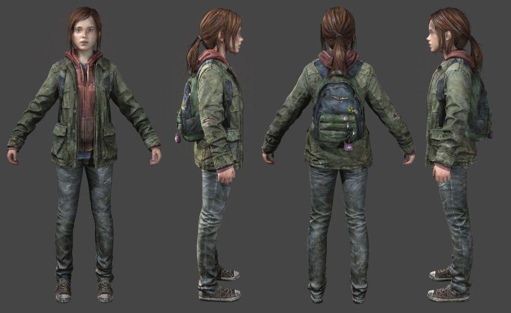 Concept Art de Ellie dans The Last of Us 1 (Hiver)